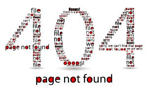 404 file error, typographic illustration